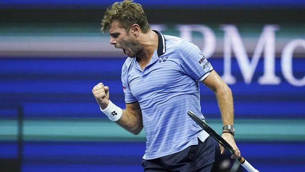 Švýcarský tenista Stan Wawrinka je ve čtvrtfinále US Open.
