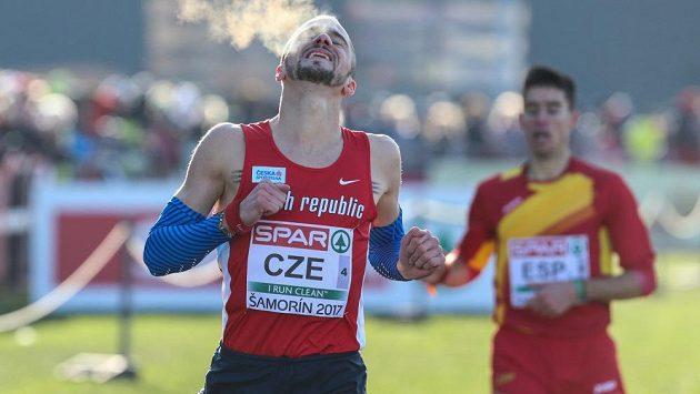Jakub Holuša při mistrovství Evropy v krosu v Šamoríně.