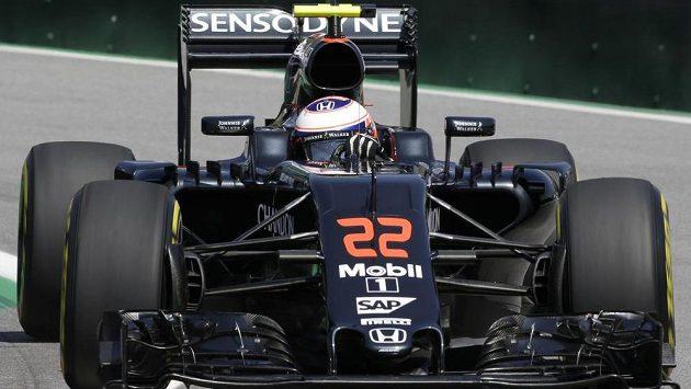 Pilot stáje McLaren Jenson Button z Velké Británie.