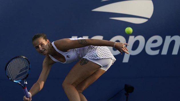 Česká tenistka Karolína Plíšková v zápase 3. kola US Open proti Australance Alje Tomljanovičové.