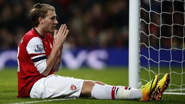 Nicklas Bendtner v dresu Arsenalu Londýn.