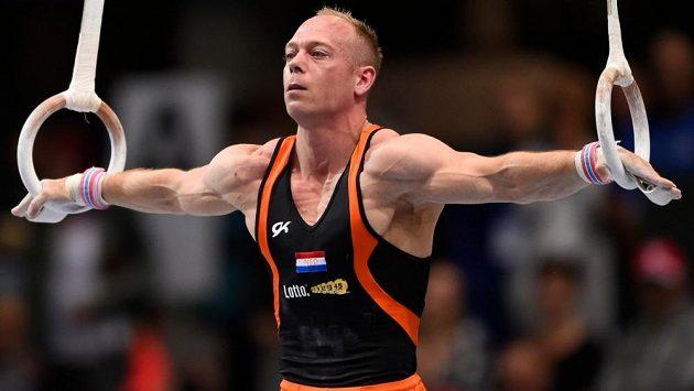 Nizozemský gymnasta Yuri van Gelder.