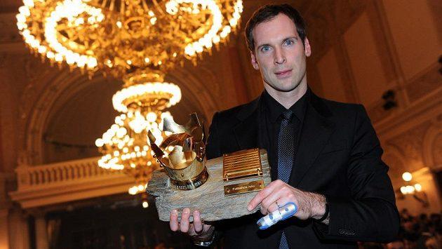 Petr Čech, vítěz ankety Fotbalista roku 2012 na pražském Žofíně.