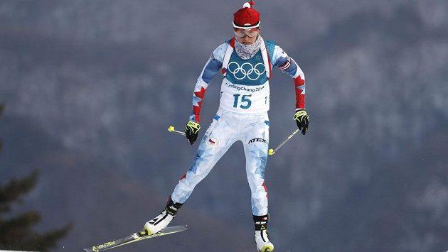 Česká biatlonistka Veronika Vítková na trati vytrvalostního závodu.