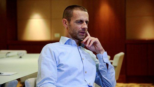 Kandidát na předsedu UEFA Aleksandar Čeferin