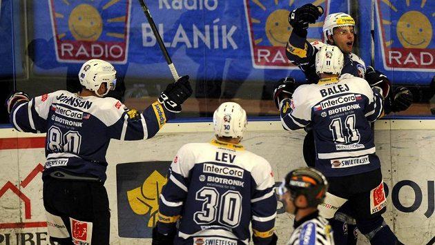 Radost plzeňských hokejistů.