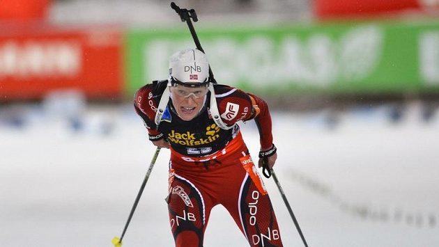 Norská biatlonistka Tora Bergerová.
