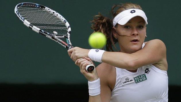 Agnieszka Radwaňská, polská finalistka ženské dvouhry na Wimbledonu