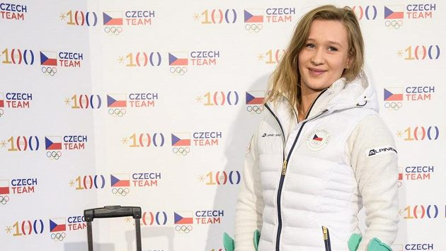 Sáňkařka Tereza Nosková během fasování olympijské kolekce pro ZOH 2018.