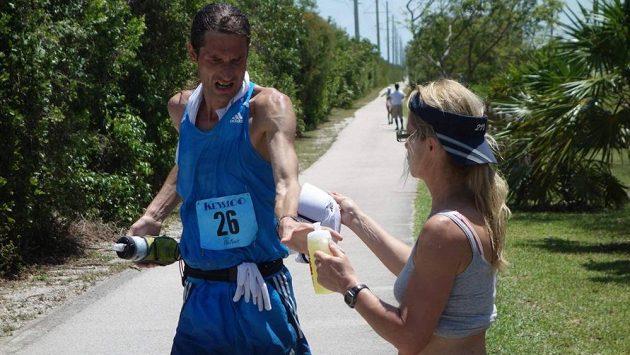 Daniel Orálek při maratónu na Floridě v roce 2014.