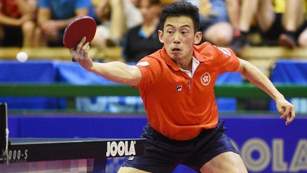 Wong Čchung-tching z Hongkongu ve finále dvouhry na Czech Open 2015.