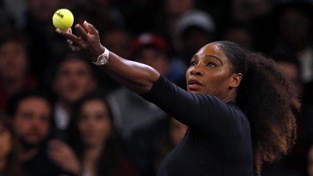 Serena Williamsová při exhibiční soutěži Tie Break Tens.