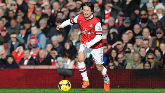 Tomáš Rosický v dresu Arsenalu možná už v létě skončí.