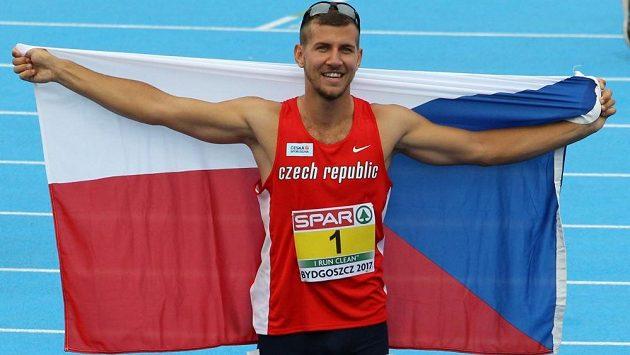 Desetibojař Jiří Sýkora po zisku zlata z mistrovství Evropy do 23 let.