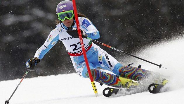 Šárka Záhrobská vybojovala ve slalomu na MS v rakouském Schladmingu osmé místo.
