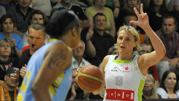 Hana Horáková z Brna v utkání proti USK Praha
