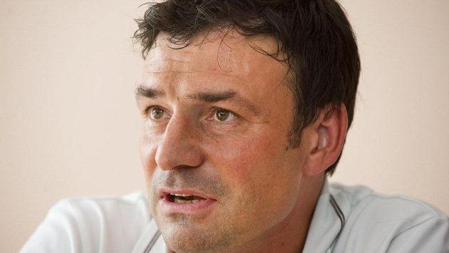 Liberecký trenér Samuel Slovák na tiskové konferenci v Košicích před čtvrtečním úvodním zápasem druhého předkola Evropské ligy.