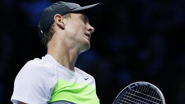 Zklamaný český tenista Tomáš Berdych.