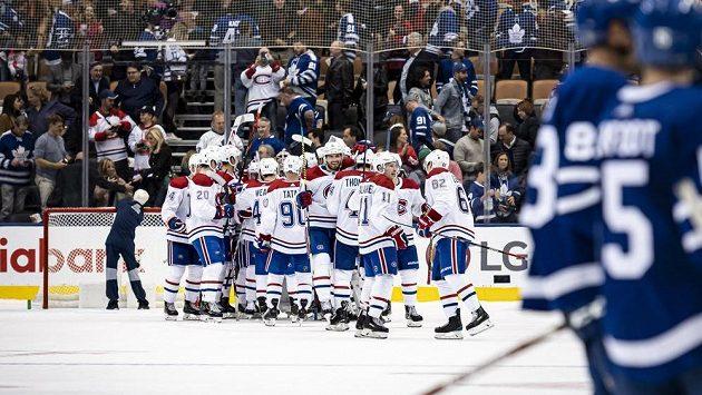 Montreal slaví výhru nad Torontem.