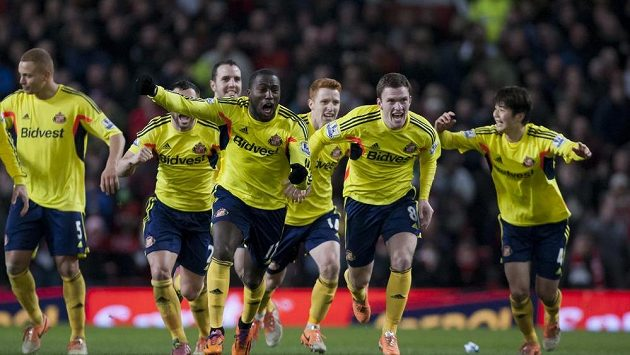 Radost fotbalistů Sunderlandu