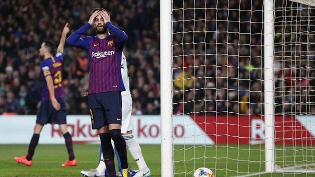 Obránce Barcelony Gerard Piqué.