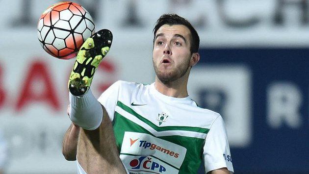 Martin Pospíšil z Jablonce v utkání s Olomoucí.