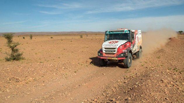 Aleš Loprais na trati Rallye Oil Libya