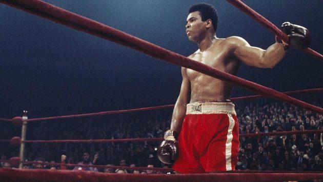 Cassius Clay, později Muhammad Ali.