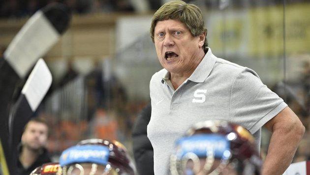 Trenér František Výborný při svém comebacku na střídačce Sparty.