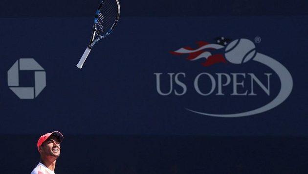 Rozlícený italský tenista Fabio Fognini na US Open