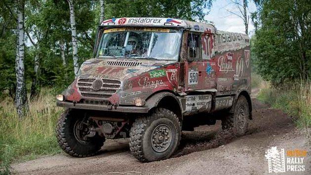 Aleš Loprais s kamiónem Tatra na trati Rally Breslau.