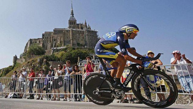 Člen stáje Saxo-Tinkoff Roman Kreuziger během 11. etapy Tour de France.