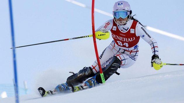 Martina Dubovská při slalomu Světového poháru v Levi.
