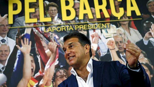 Dosavadní prezident fotbalové Barcelony a zároveň kandidát do nadcházejících voleb Joan Laporta.