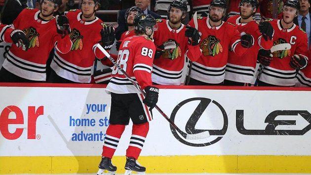 Hlavní hvězdou týdne v NHL byl vyhlášen útočník Chicaga Patrick Kane.