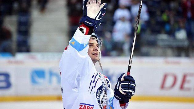 Branko Radivojevič z Liberce slaví svoji trefu do sítě Litvínova.
