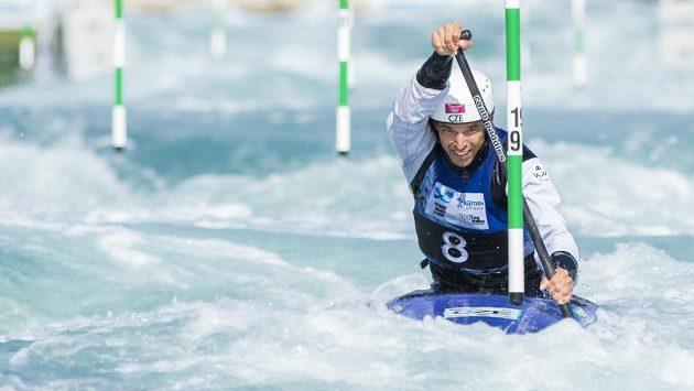 Kanoista Stanislav Ježek při mistrovství světa v Lee Valley.