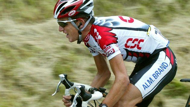 Americký cyklista Tyler Hamilton v dobách své největší slávy.