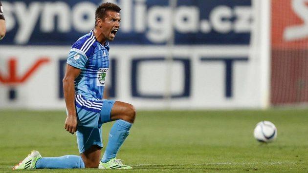Mladoboleslavský útočník Milan Baroš vstřelil Slovácku dva góly.