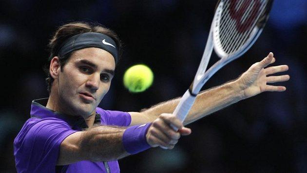 Roger Federer na Turnaji mistrů v Londýně.