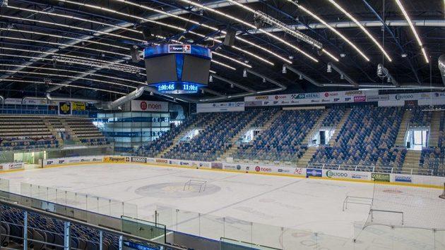 Chomutovská Rocknet Aréna, v níž najdou azyl kladenští hokejisté.