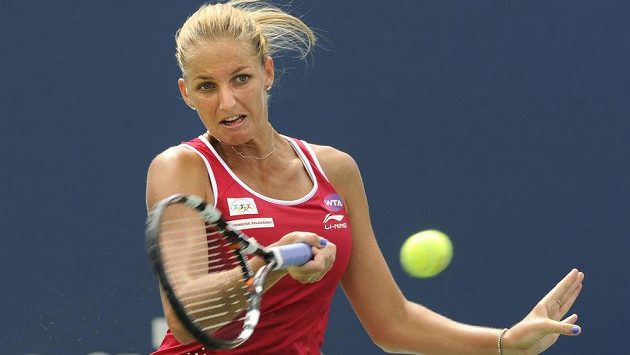 Karolína Plíšková ve čtvrtfinále turnaje v New Havenu.