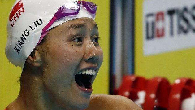 Číňanka Liou Siang vylepšila na Asijských hrách v Jakartě světový rekord na 50 metrů znak.