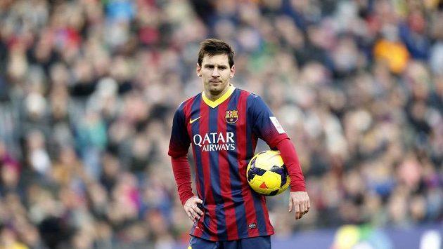 Zasmušilý útočník Barcelony Lionel Messi.