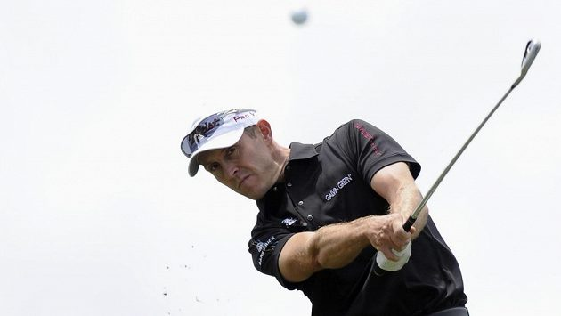 Velšský golfista Stuart Manley v Melbourne.