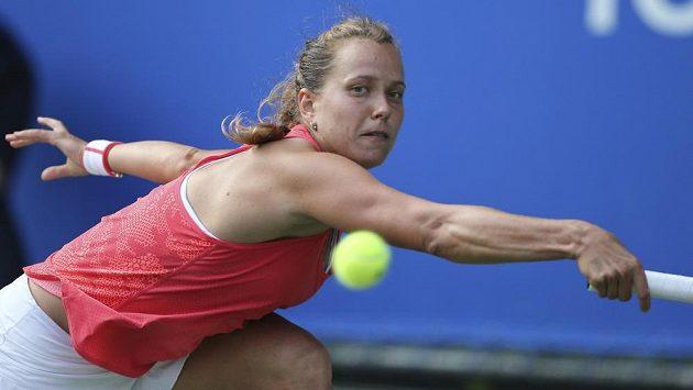 Barbora Strýcová na turnaji v Tokiu.