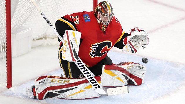 Český brankář David Rittich (33) prožívá v NHL vydařené období.