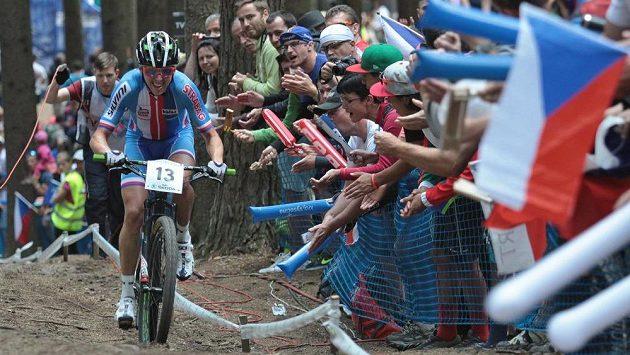 Český biker Ondřej Cink dojel na MS v Novém Městě na Moravě čtvrtý.