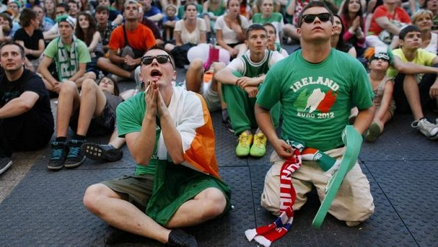 Irští fanoušci v polské Poznani