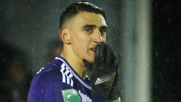 Útočník Anderlechtu Brusel Matías Suárez.